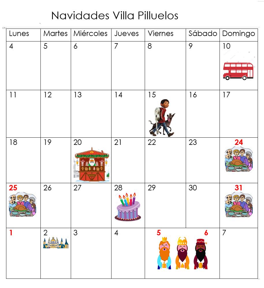 Navidades Villa Pilluelos